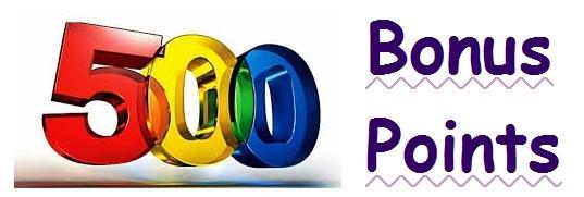 500 bonus points